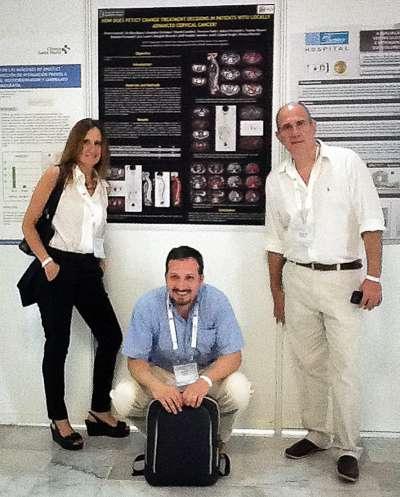 los Dres. Sonia Traverso, Christian González y Gabriel Bruno participaron presentando sus Posters