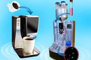El dispositivo, desarrollado en la UCLA, permite a los científicos controlar la temperatura de la sangre – de la misma manera que se controla la del café en una cafetera- para capturar y liberar las células cancerosas en condiciones óptimas. Fuente: UCLA.