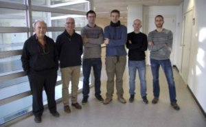 De izquierda a derecha, los investigadores Joan Cabestany, Andreu Català, Albert Sama, Carlos Pérez, Daniel Rodríguez y Jaume Romagosa.
