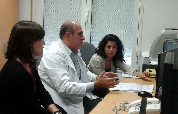 Melina Belinco, Christian Gonzalez y Geraldine Arias.