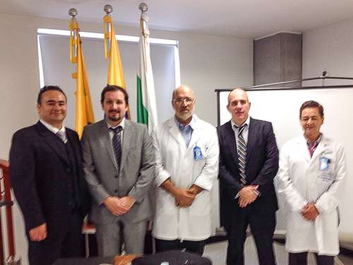 Dres Juan Carlos Valencia, Gabriel Bruno, Oscar Jaramillo (director), Christian González y Eduardo Uribe