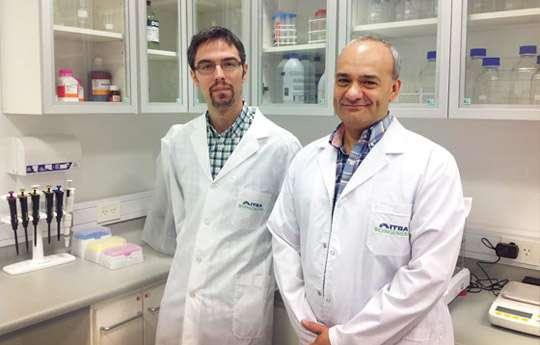 Federico Milano y Marcelo Risk, investigador independiente del CONICET. Foto: gentileza investigadores