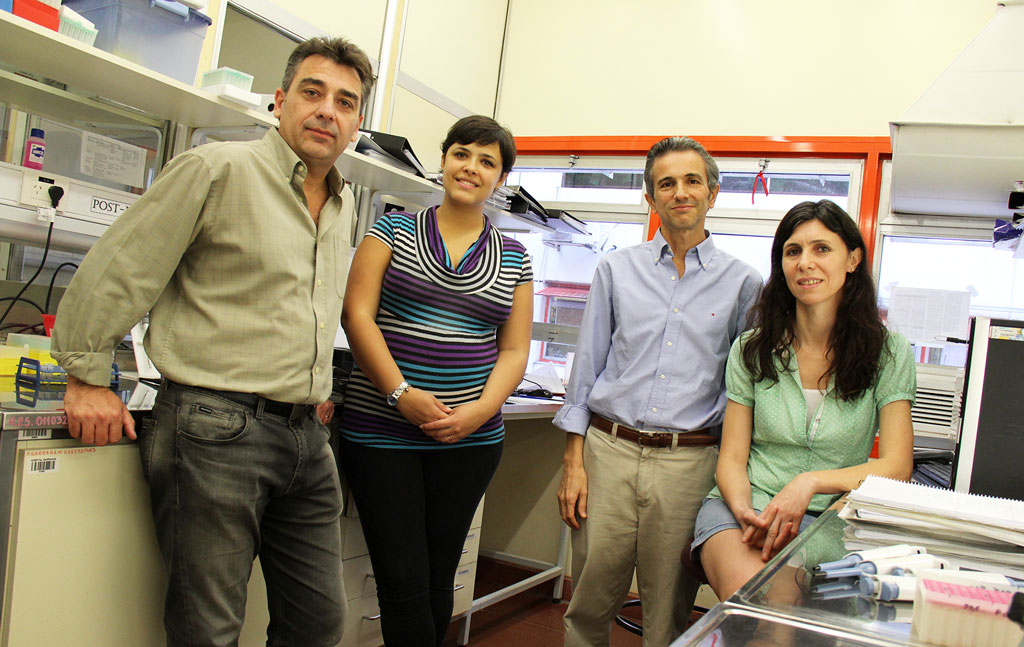 Guillermo Chantada (segundo de derecha a izquierda), junto a parte de su equipo de investigación del Garrahan. Foto: Hospital Garrahan