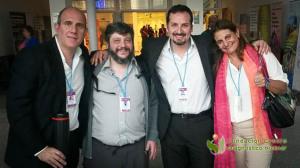 Los doctores Christian González, Gabriel Bruno y Mariela Agolti junto al Lic. Adrian Duran representaron a la Argentina con 4 Pósters en el IPET-2015 organizado por la IAEA