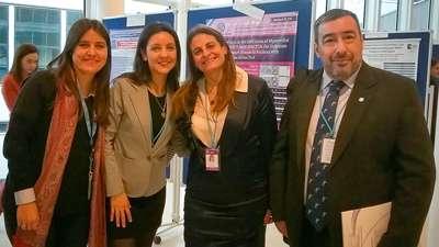 Dra. Melina Belinco (CNEA haciendo pasantia en IAEA), Dra.Juarez, Dra. Mariela Agolti (CEMENER) y el Dr. Roberto Aguero (FCDN)