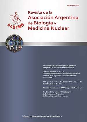 REVISTA DE LA ASOCIACIÓN ARGENTINA DE BIOLOGÍA Y MEDICINA NUCLEAR: VOL 7 Nº 3; 15-24 • 2016