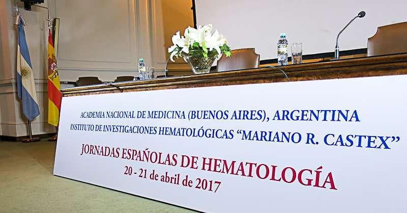 """Jornadas Españolas de Hematología - Organizadas por el Instituto de Investigaciones Hematológicas """"Mariano R. Castex"""", tuvieron lugar en la sede de la Academia Nacional de Medicina"""