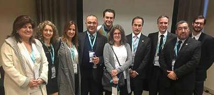 Dra. Sonia Traverso y Roberto Aguero. Congreso de ecocardiografia e imágenes cardiovasculares 2017. Miembros del Consejo Cardiología Nuclear SAC