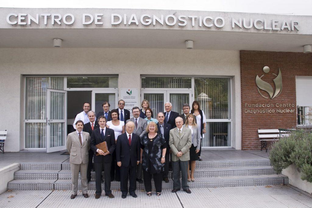 Yukiya Amano, anterior Director General en su visita oficial a la Argentina en la FCDN. (2010)
