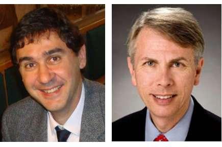 Prof. Dr. George Segall y el Prof. Dr. Francesco Giammarile