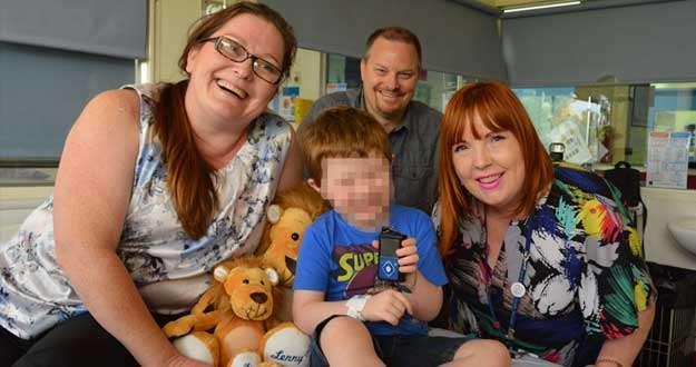 El niño de 4 años que tiene un páncreas artificial con su familia en Perth, Australia.AFP PHOTO/WESTERN AUSTRALIA HEALTH DEPARTMENT