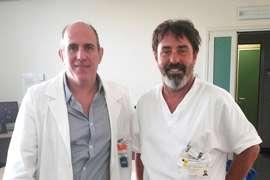 Los Dres. Christian Gonzalez y Paolo en Bologna - Departamento de Medicina Nuclear e Imágenes Moleculares