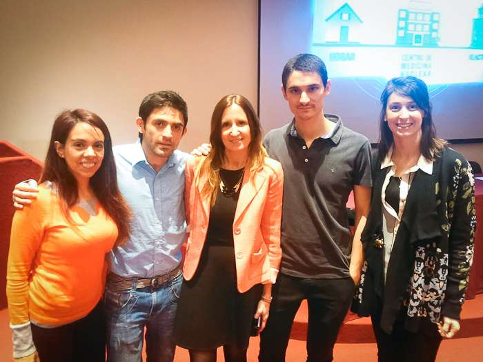 Los doctores Romina Ventimiglia, Cristiam Uzuriaga, Francisco Funes y Maria Jose Arseluz del Staff de la FCDN