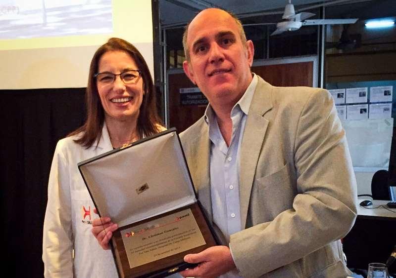 Junto a la Dra Claudia Cejas, jefa del Depto de Diagnóstico por imágenes del Hospital César Milstein
