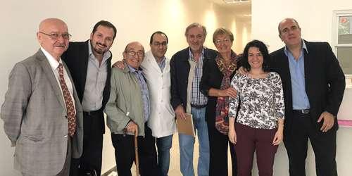 (izq a der) Dr. Gabriel Bruno, Dr. Bernardo Leone, Dr. Gustavo Córdoba, Dr. Carlos Vallejos, Dra. Elizabeth Mickiewics, Dra. Julieta Leone y Dr. Christian González.