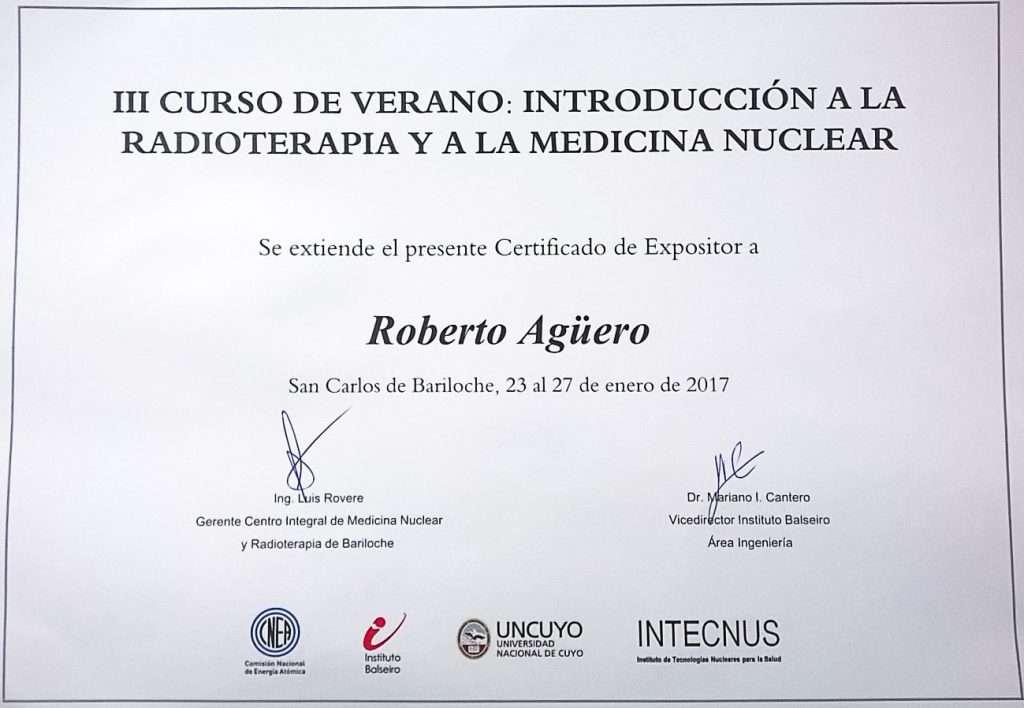 El Dr. Roberto Agüero, integrante del cuerpo médico de la Fundación Centro Diagnóstico Nuclear (FCDN), brindó una charla en el Centro Integral de Medicina Nuclear y Radioterapia de Bariloche.