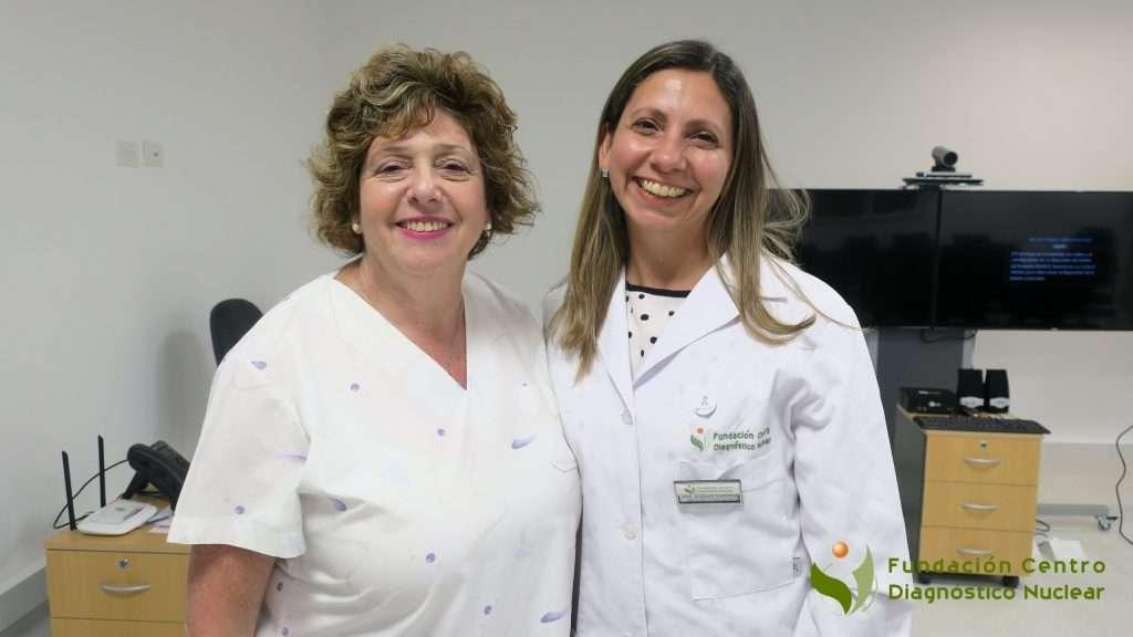 Dra. Susana Ramirez, Jefa del Servicio de mamografía de la FCDN y la Dra. Adriana Golceker, ginecóloga, obstetra y especialista en patología mamaria