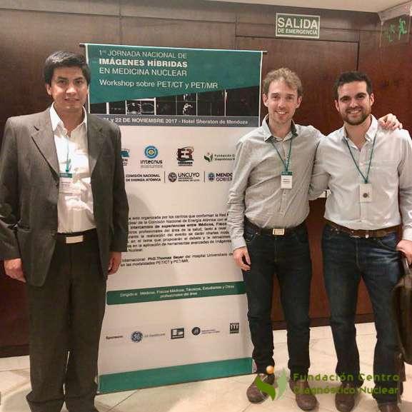 Amilcar Osorio, Mauro Namías y Humberto Romano.