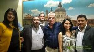 Representantes de Argentina con experto de IAEA (Dr.Fernando Mutt de Uruguay) en cóctel de bienvenida