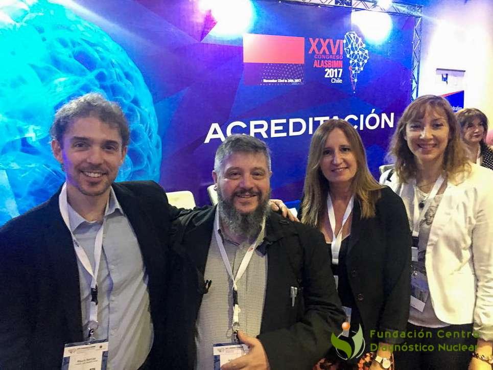 Profesionales de la FCDN: Mg. Mauro Namías, Lic. Adrián Duran, Dra. Sonia Traverso y Farm. Alicia Coronel