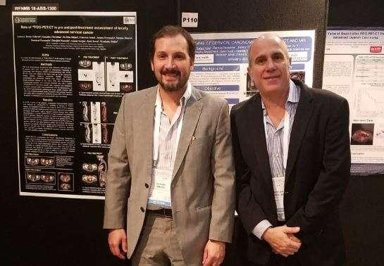 Los Dres. Gabriel Bruno y Christian González, Director Médico y Jefe de Servicio PET/CT de la Fundación Centro Diagnóstico Nuclear (FCDN) respectivamente, presentaron un trabajo científico
