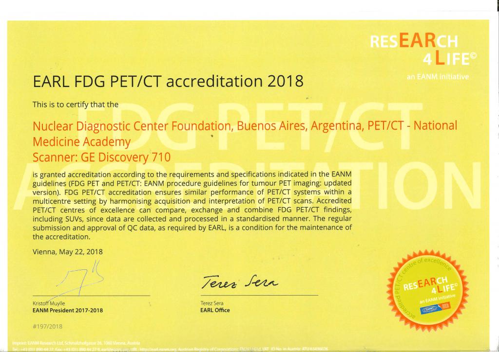 Acreditación EARL FCDN