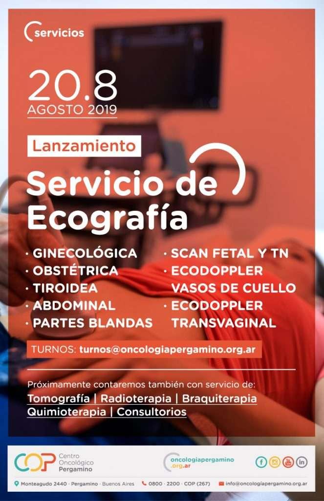 Centro Oncológico Pergamino (COP) pone en marcha el servicio de Ecografía