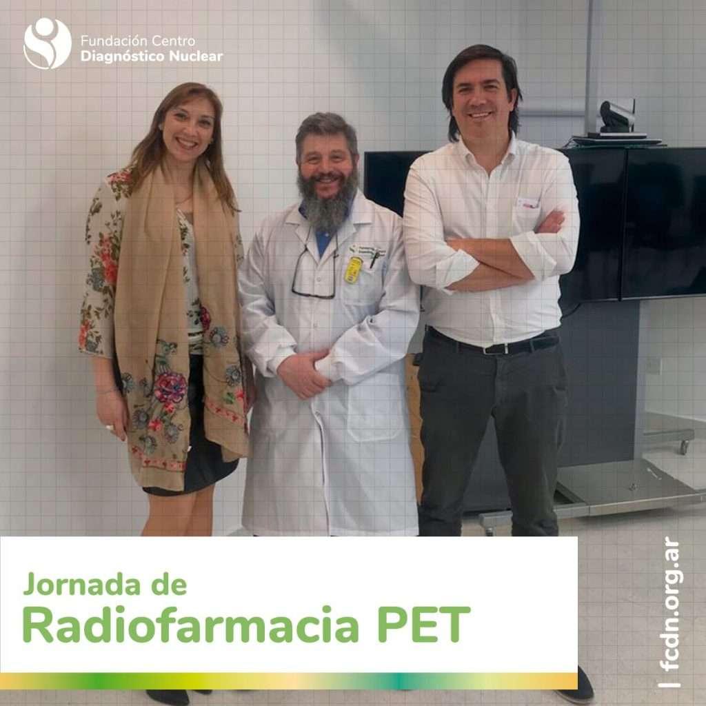 Alicia Coronel, Dirección técnica y Adrián Durán, Jefe de instalacion de la FCDN junto al Lic. Antero J. Abrunhosa