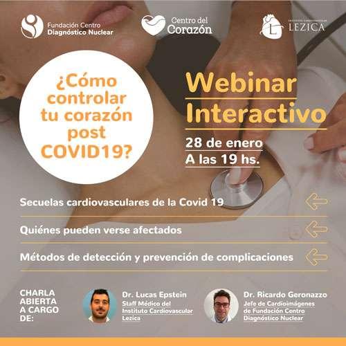 Webinar interactivo ¿Cómo controlar tu corazón post COVID-19?